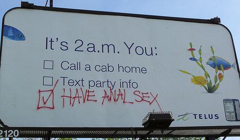 telus billboard