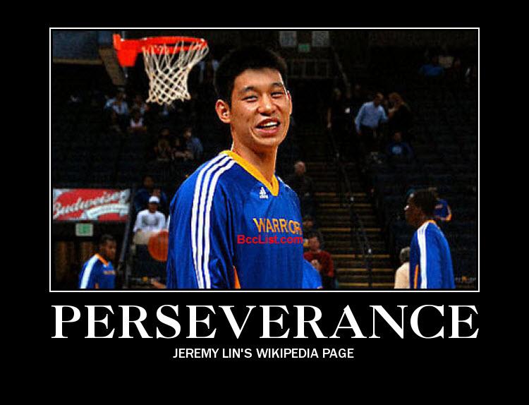 Jeremy Lin Perseverance Motivational Poster